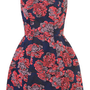 Blue/Pink Floral Lantern Dress - Dresses  - Apparel