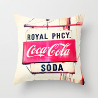 Royal Pharmacy Vintage Sign - New Orleans  Throw Pillow by Erin Johnson | Society6