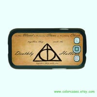 Samsung Galaxy S3 case -- Deathly Hallows,Harry Potter, Samsung galaxy S3 case in plastic ,color in black or white or clear