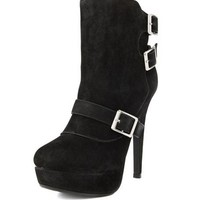 Sherpa-Lined Heel Bootie: Charlotte Russe