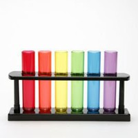 Test Tube Shot Set- Washed Black One
