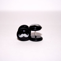 Black Mustache Fake Plugs by Plug-Club