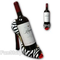 Zebra High Heel Wine Caddy | Unique Gifts for Her | FunSlurp.com