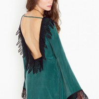 Roosevelt Dress - Hunter Green - NASTY GAL