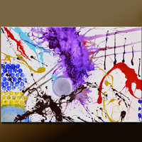 Abstract Canvas Art Painting 36x24 Original Modern Contemporary Paintings by Destiny Womack - dWo - Impulse