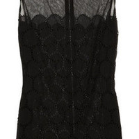 Dolce & Gabbana Broderie anglaise and mesh top - 70% Off Now at THE OUTNET