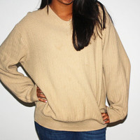 Early 90's oversized beige sweater
