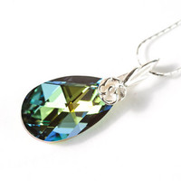 Swarovski Crystal Pendant Christmas Gift Idea For Her Holiday Jewelry