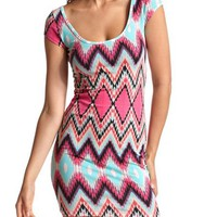 Aztec Cotton Body-Con Dress: Charlotte Russe