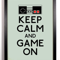 Keep Calm and Game On Nintendo Controller 8 x by KeepCalmArsenal