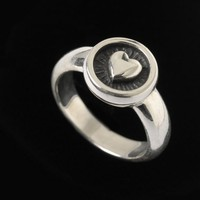Heart Ring BC Silver Collection                 by BowmanOriginals