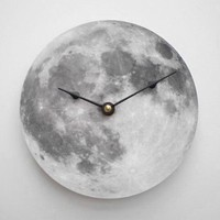 Silver Moon Clock