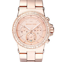 Michael Kors Baguette-Bezel Watch, Rose Gold - Michael Kors
