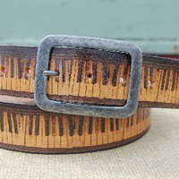 Hand-made Leather Belt - Vintage Piano from Witty and Charming | Made By Myself | 35.00 | Bouf