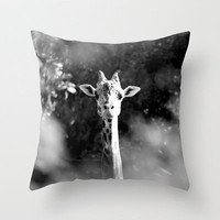 portrait of giraffe Throw Pillow by Marianna Tankelevich | Society6