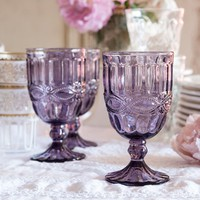 Goblet Purple Glass from Rachel Ashwell Shabby Chic Couture
