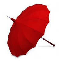 Ravishing Red Bella Pagoda Umbrella - Pagoda Rain Umbrellas, Red Umbrellas - Umbrellas.net - Seattle