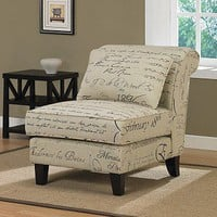 Signature Tan Linen Slipper Chair