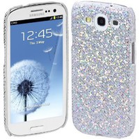 Amazon.com: Cimo Bling Sparkle Hard Cover Back Case for Samsung Galaxy S III S3 (AT&T, T-Mobile, Sprint, Verizon) - White: Cell Phones & Accessories