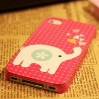 iphone 4 case, iphone 4s case, cute elephant iphone case covers, cute iphone case