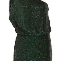 Haute Hippie|One-shoulder sequined silk dress|NET-A-PORTER.COM
