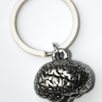 3- D brain Key chain