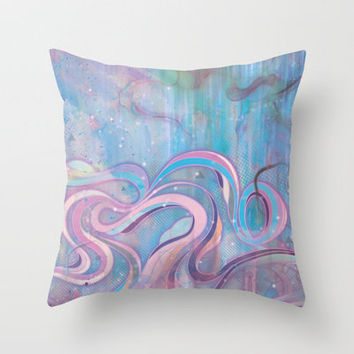 Cascade Throw Pillow by Mat Miller | Society6