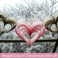 Breast Cancer awareness garland Pretty in Pink by PaperPolaroid