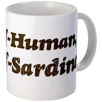 Half-Sardine Mug on CafePress.com