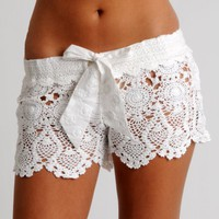 Crochet Handmade Shorts by Letarte