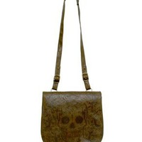 Brown Sugar Skull Cross Body Bag from Loungefly