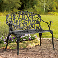 Grape Vine Garden Bench - Plow & Hearth