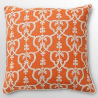 22 inch. Cascade Orange Decorative Pillow
