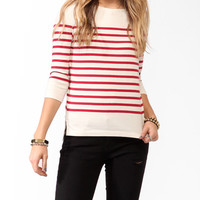 Classic Striped 3/4 Sleeve Top