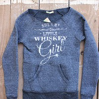Whiskey Girl Ultra-Comfy Fleece Sweatshirt