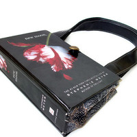 New Moon Book Purse - Twilight  Book Handbag -  Fashionable Handbag for Women