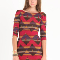Lakota Aztec Dress - $37.00 : ThreadSence.com, Your Spot For Indie Clothing  Indie Urban Culture