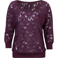 FULL TILT Lace Pocket Womens Top 202980750 | Knit Tops &amp; Tees | Tillys.com