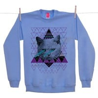 Street Market — Ohh Deer - Pastel - Blue Sweater By Kris Tate