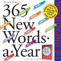 Amazon.com: 365 New Words-a-Year 2013 Page-A-Day Calendar (9780761167211): Merriam-Webster: Books
