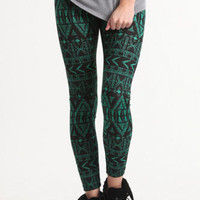 Nollie Green Tribal Leggings at PacSun.com