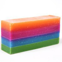 Organic Soap - Somewhere Over the Bathbow - The Luckiest Soap - Rose Geranium, Citrus, Lavender and Mint