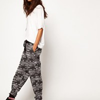 ASOS Jogger in Metallic Aztec Print at asos.com