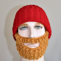 Beard  Beanie Bearded Hat Lumberjack Man Hat Red Honey Christmas gift