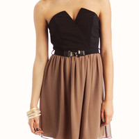 belted-two-fer-dress MOCHA - GoJane.com