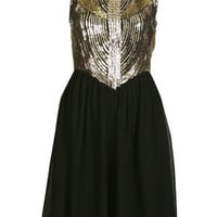 Gold Embellished Prom Dress - Prom Dresses - Dresses  - Apparel