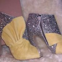miu miu glitter booties 39.5 Europe / 9 US | eBay
