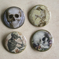 Bones & Skulls Button Set
