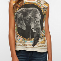Truly Madly Deeply Elephant Scarf Muscle Tee