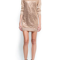 MANGO - NEW! - Sequins knit dress